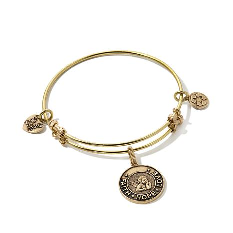 "Angelica ""Faith, Hope, Love"" Charm Slide-Clasp Bracelet"