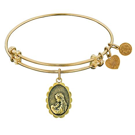"""Angelica """"Mother's Love"""" Dangle Wire Expansion Bangle Bracelet"""