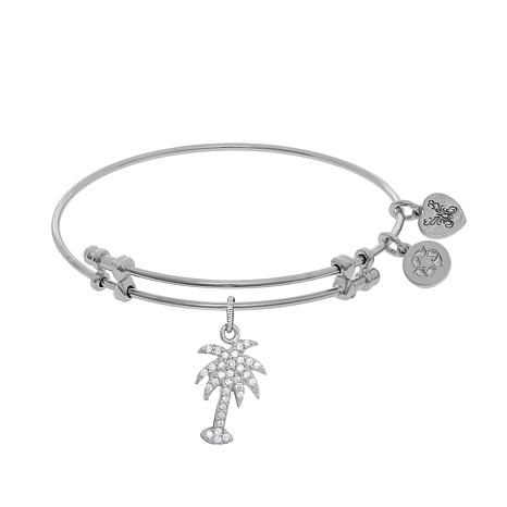 Angelica Palm Tree Wire Expansion Bangle Bracelet