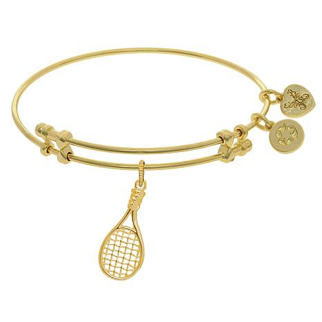 Angelica Tennis Dangle Wire Expansion Bangle Bracelet