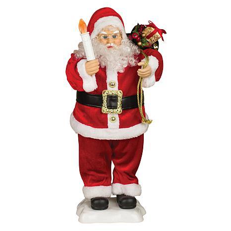 Animated Santa Figurine
