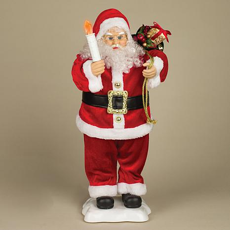 Animated Santa Figurine