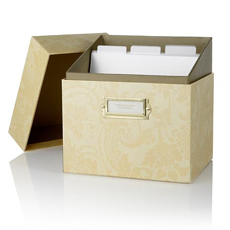 Anna Griffin® Embossing Folder Storage Box - Ivory