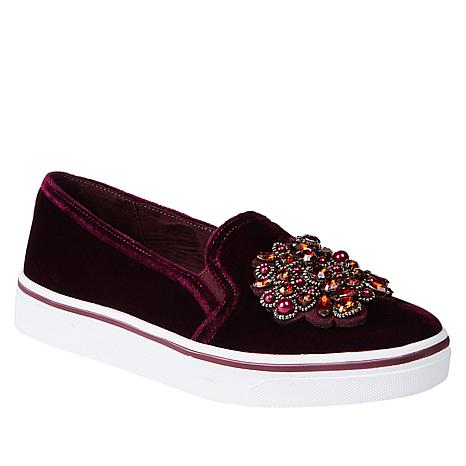 Anne Klein Sport Zymone Jeweled Fabric Slip-On Sneaker