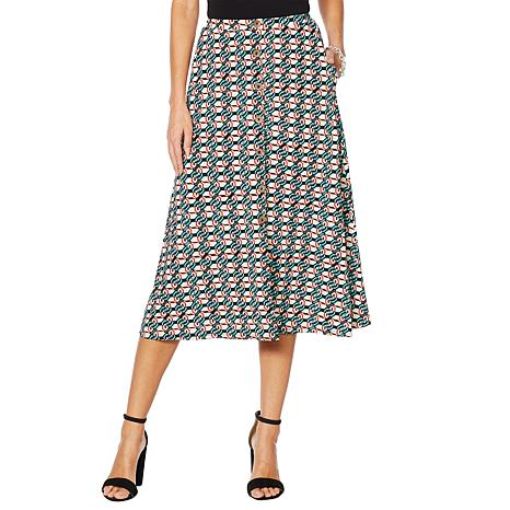 """Antthony """"Culturally Styled"""" Printed Button-Up Skirt"""