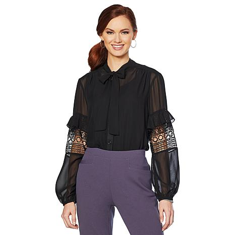 "Antthony ""Elda Collection"" 2-piece Chiffon Blouse and Tank Set"