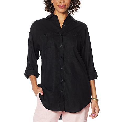 Antthony Linen-Blend Button-Up Shirt