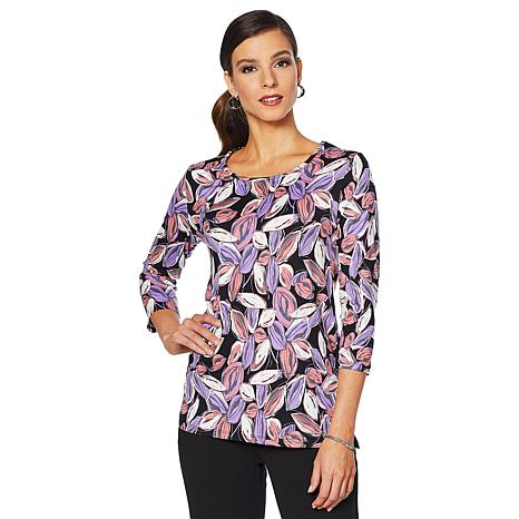 """Antthony """"Luscious Knit"""" 2-pack Printed and Solid Tees"""