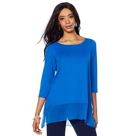"Antthony ""Luscious Knit"" Mixed Media Tunic"