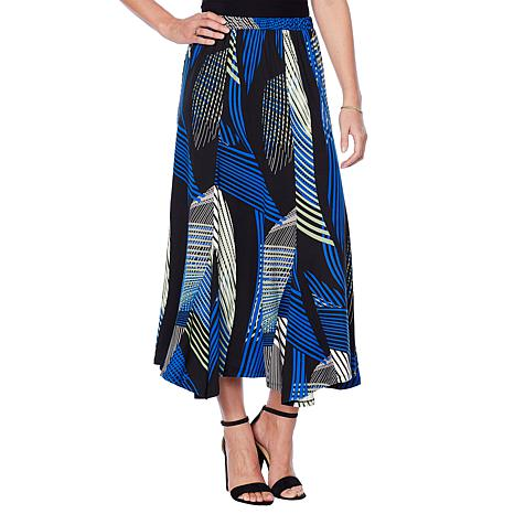"""Antthony """"Luscious Knit"""" Printed Full Circle Skirt"""