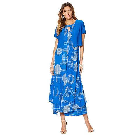 "Antthony ""Modern Moda"" Printed Halter Dress with Shrug"