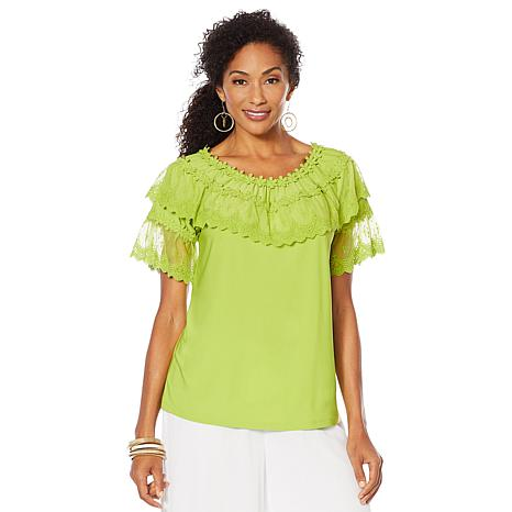 "Antthony ""Ocean Waves"" Lace-Trim Top"