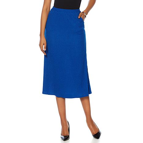 """Antthony """"Sassy and Coordinate"""" Rib Knit Skirt"""