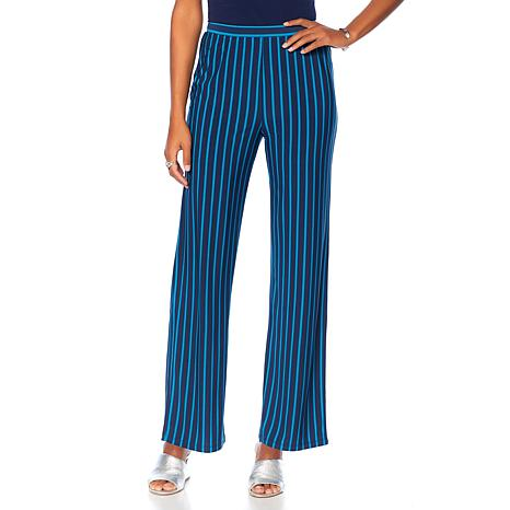 """Antthony """"Striped for Success"""" Striped Flat-Front Pant"""