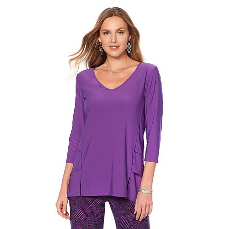 """Antthony """"Timeless Textures"""" Top with Tiered Insets"""