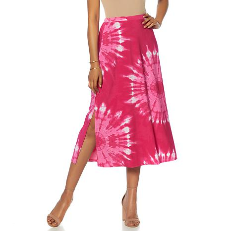 "Antthony ""Watercolors of the Sky"" Tie-Dye A-Line Skirt"