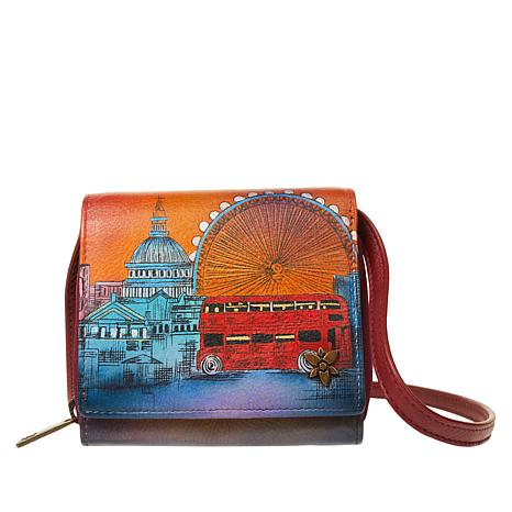 Anuschka Hand-Painted Leather 2-Fold Mini Organizer Wallet