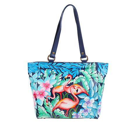 Anuschka Hand-Painted Leather Large Shoulder Tote