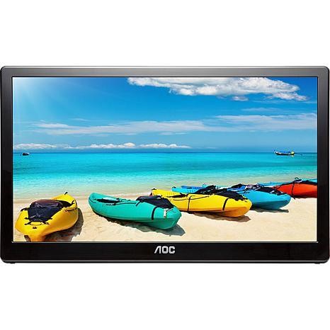 "AOC 15.6"" Ultra Slim Full HD USB Powered Portable LED Backlit Monitor"