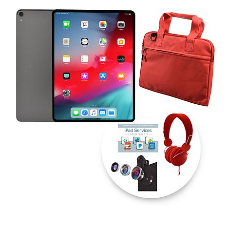 """Apple 2018 iPad Pro® 12.9"""" 64GB Gray Tablet w/Sleeve and Accessories"""