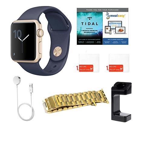 Apple Series 2 42mm Sport Watch w/Extra Band, Charging Stand +App Pack
