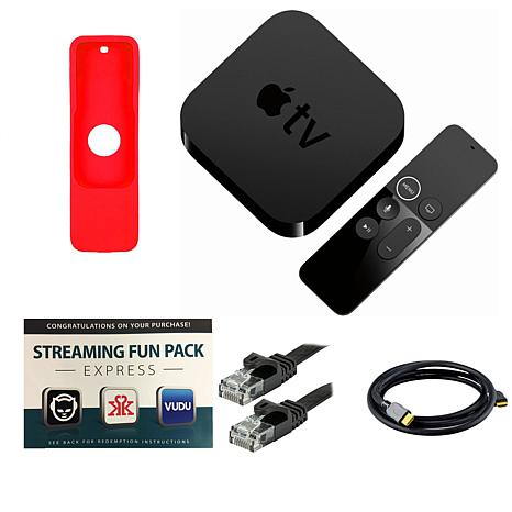 Apple TV 4K 2017 32GB with Siri Remote, Sleeve, Cables and Software