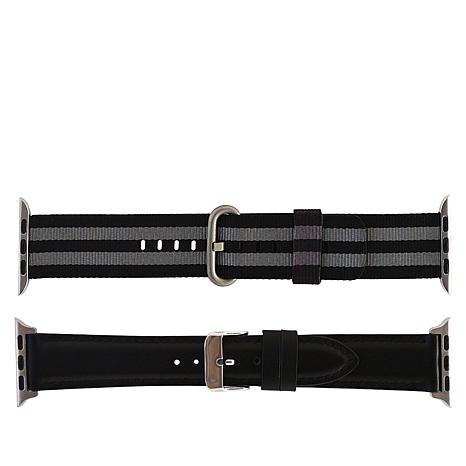 Apple Watch 38/40mm 2-Pack Nylon & Leather Replacement Band