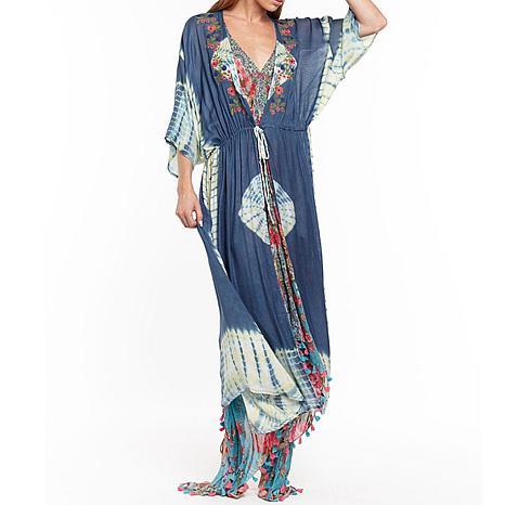 Aratta Beach Bliss Kimono - Tie Dye Blue