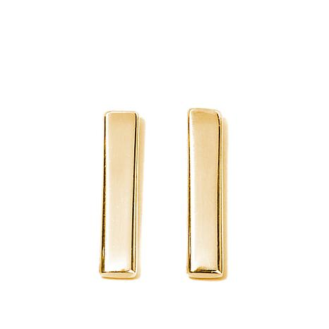 Argento Vivo Gold-Plated Bar Stud Earrings