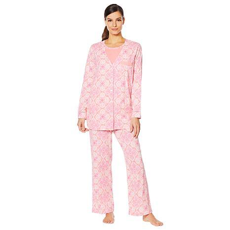 Aria 3-piece Cotton Jersey Pajama Set