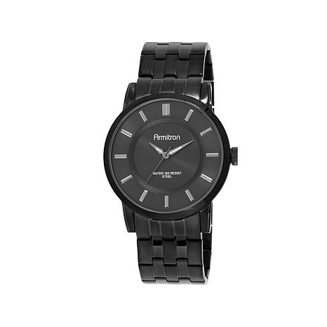 Armitron Men's Black Stainless Steel Watch