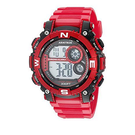 Armitron Men's Red Digital Chronograph Sport Watch
