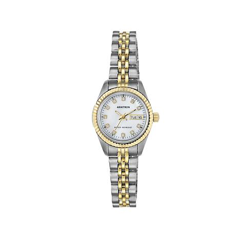 Armitron Women's 2-tone Mother-of-Pearl Dial Watch