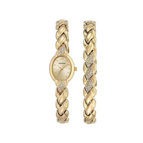Armitron Women's Goldtone Watch and Bracelet Set