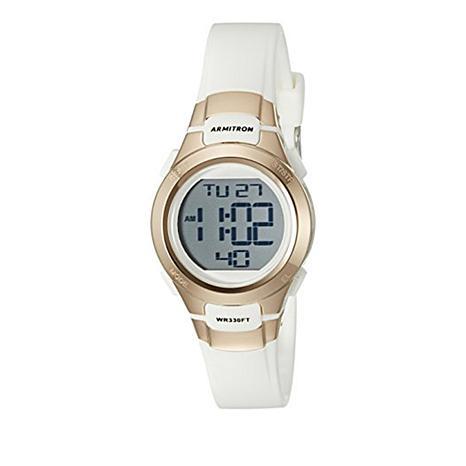 Armitron Women's Rosetone and White Digital Chronograph Sport Watch