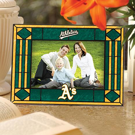 Art Glass Horizontal Picture Frame - Oakland Athletics