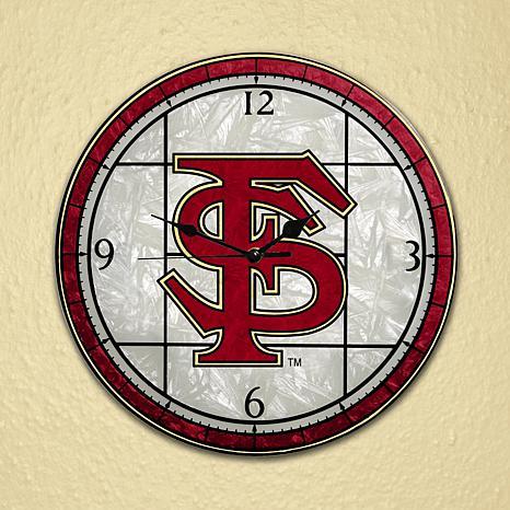 Art Glass Wall Clock - Florida State University