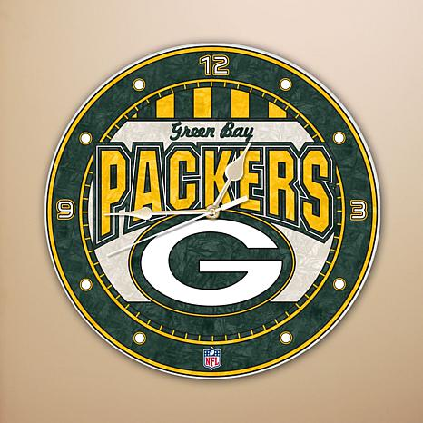 Art Glass Wall Clock - Green Bay Packers