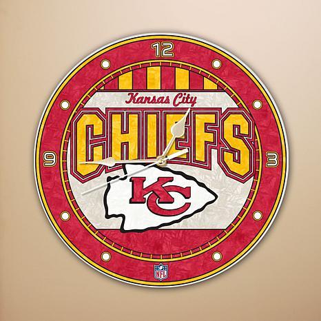 Art Glass Wall Clock - Kansas City Chiefs