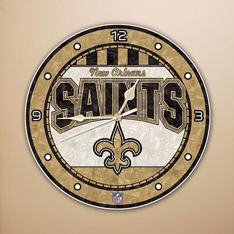 Art Glass Wall Clock - New Orlean Saints