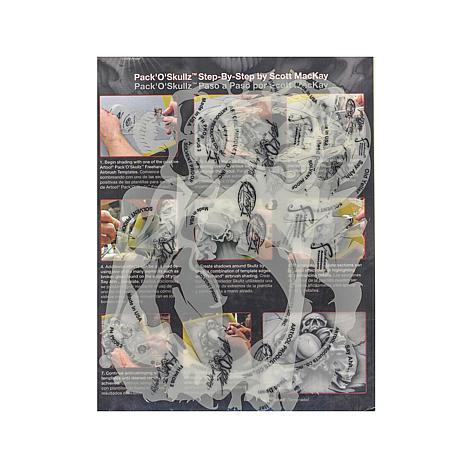 Artool Pack of Skulls Freehand Airbrush Templates PKOS2 Set of 3