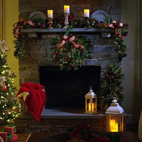 """""""As Is"""" American Tree & Wreath 9' Pinecone Berry Garland"""