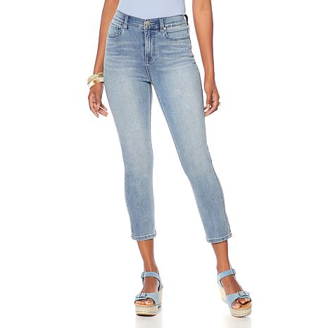 """As Is"" DG2 by Diane Gilman Virtual Stretch Cropped Skinny Jean - B..."