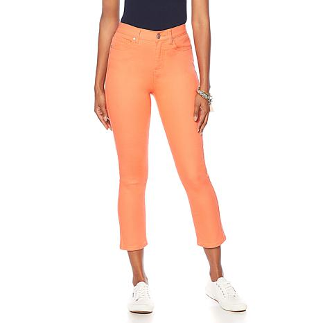 """As Is"" DG2 by Diane Gilman Virtual Stretch Cropped Skinny Jean - F..."