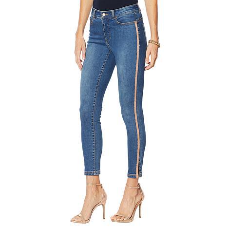 """""""As Is"""" G by Giuliana G-Sculpt™ 101 Skinny Side Stripe Jean"""