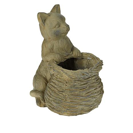 """""""As Is"""" Improvements Animal with Basket Planter"""