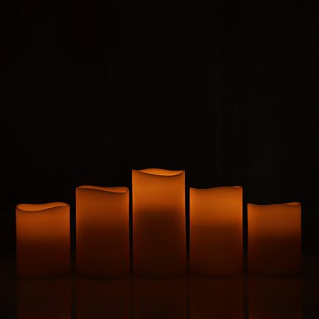 """""""As Is"""" Matchless 5-piece Push Button Candle Set"""