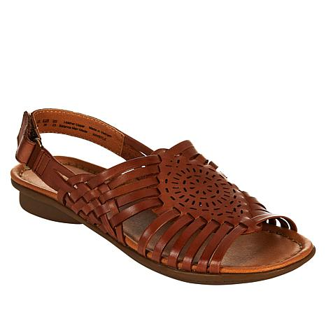 """""""As Is"""" Naturalizer Whistle Woven Leather Flat Sandal"""