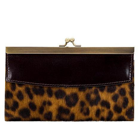 """""""As Is"""" Patricia Nash Paola Leather Frame Wallet with RFID Protection"""