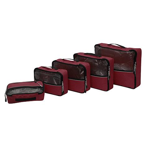 """""""As Is"""" Samantha Brown Packing Cubes 5-piece Set"""